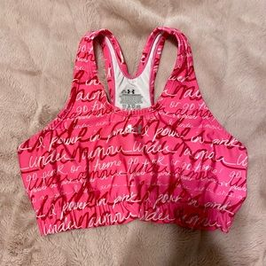Under Armour Sports Bra (Breast Cancer Awareness)